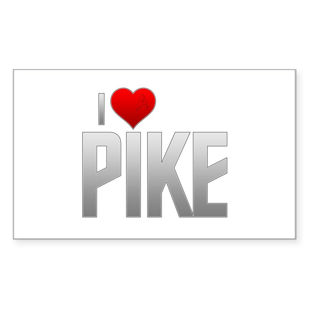 I Heart Pike Rectangle Sticker