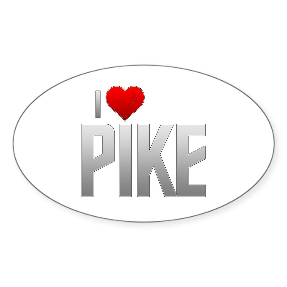 I Heart Pike Oval Sticker