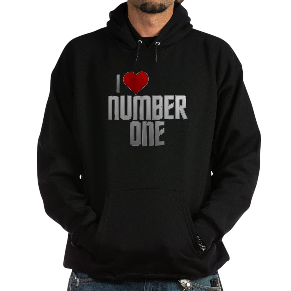I Heart Number One Dark Hoodie