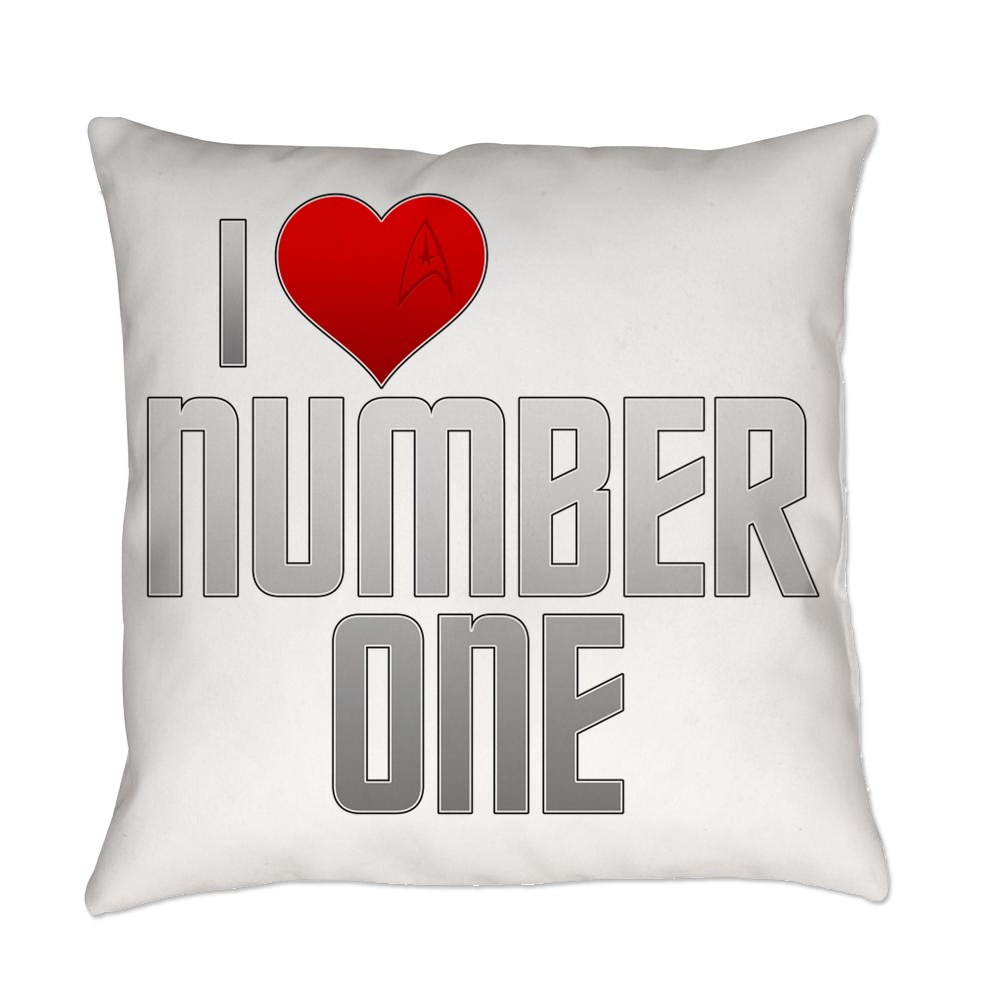 I Heart Number One Everyday Pillow