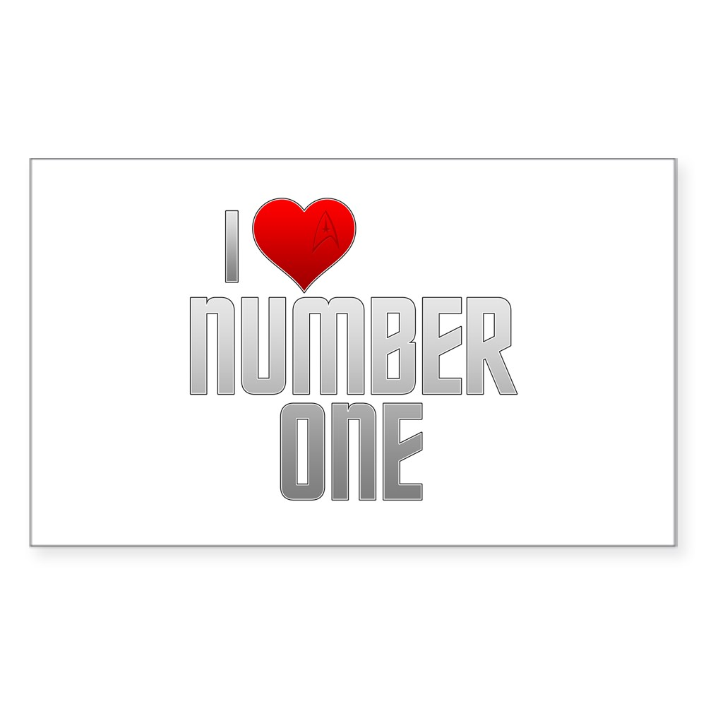 I Heart Number One Rectangle Sticker
