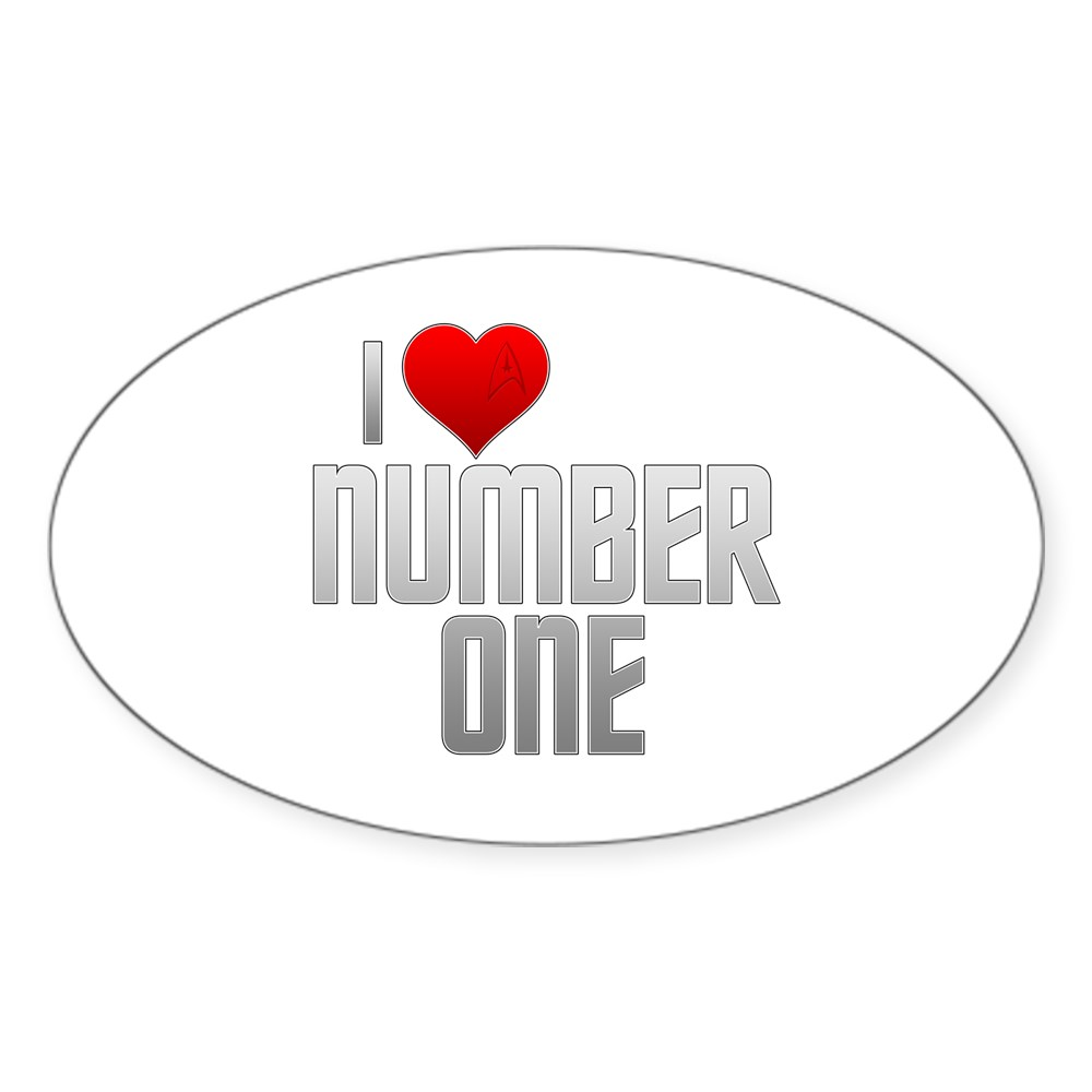 I Heart Number One Oval Sticker