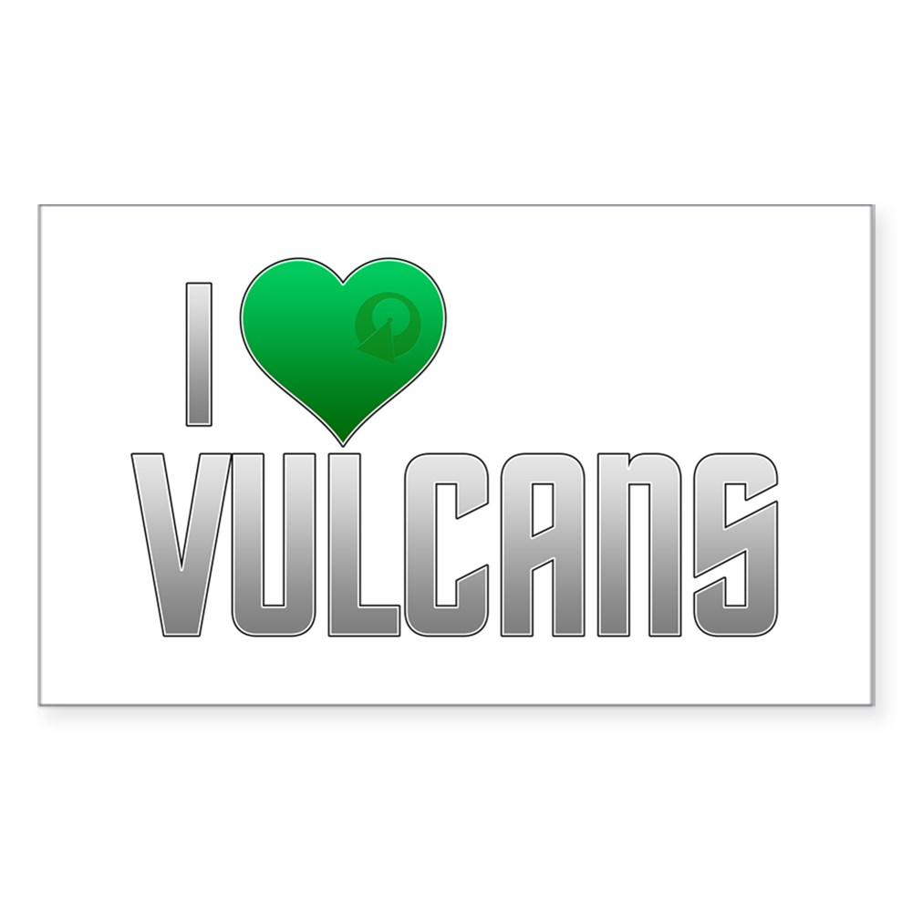 I Heart Vulcans Rectangle Sticker