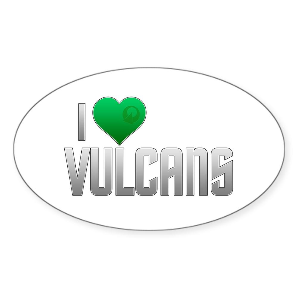 I Heart Vulcans Oval Sticker