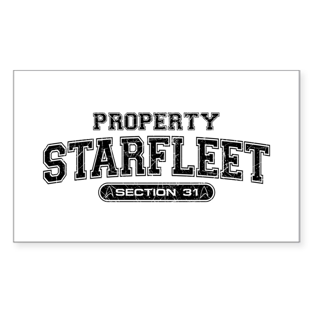Property Starfleet Section 31 Rectangle Sticker