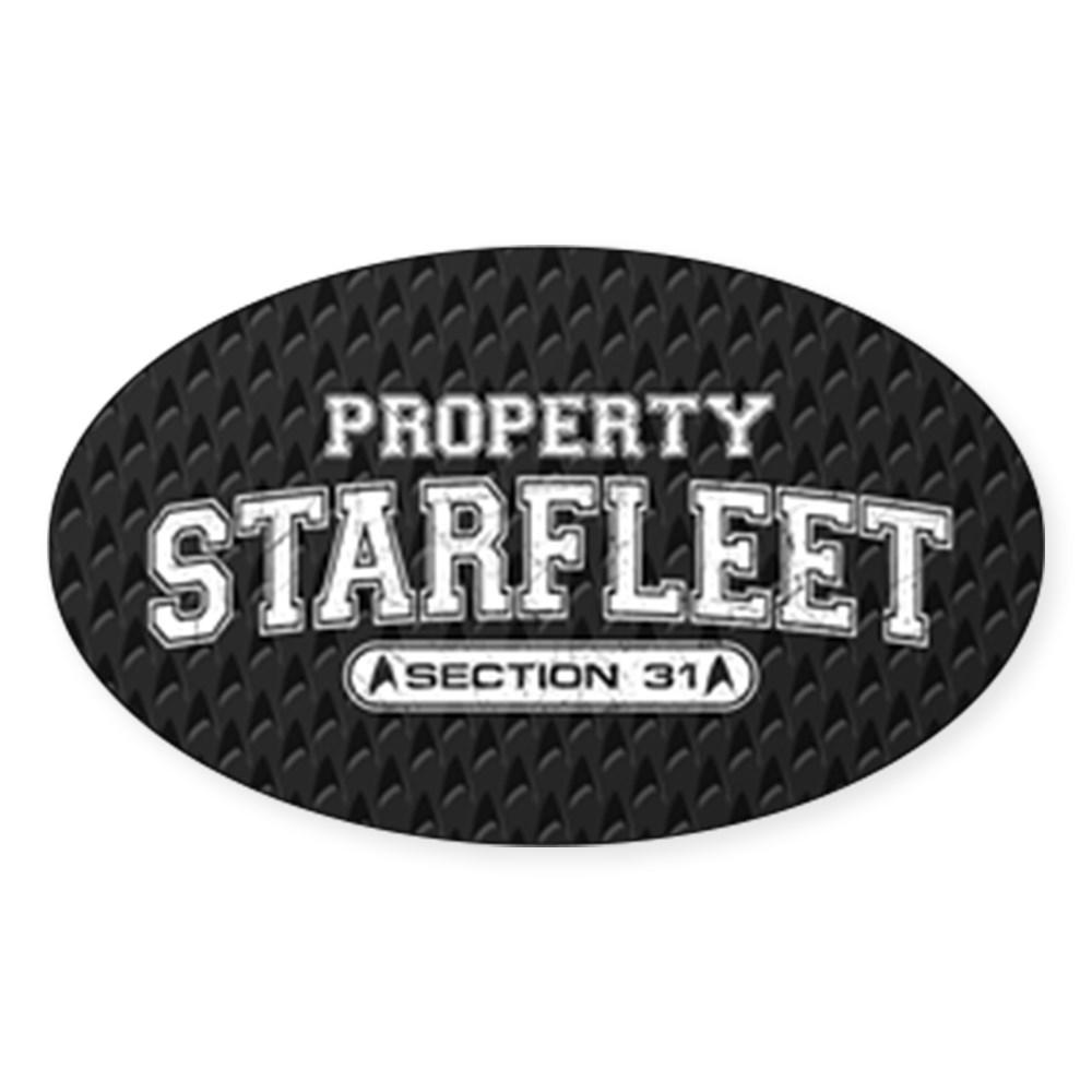 Property Starfleet Section 31 Oval Sticker