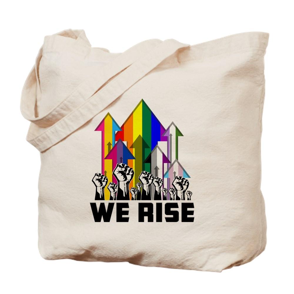 We Rise LGBTQIA Pride Flags Tote Bag