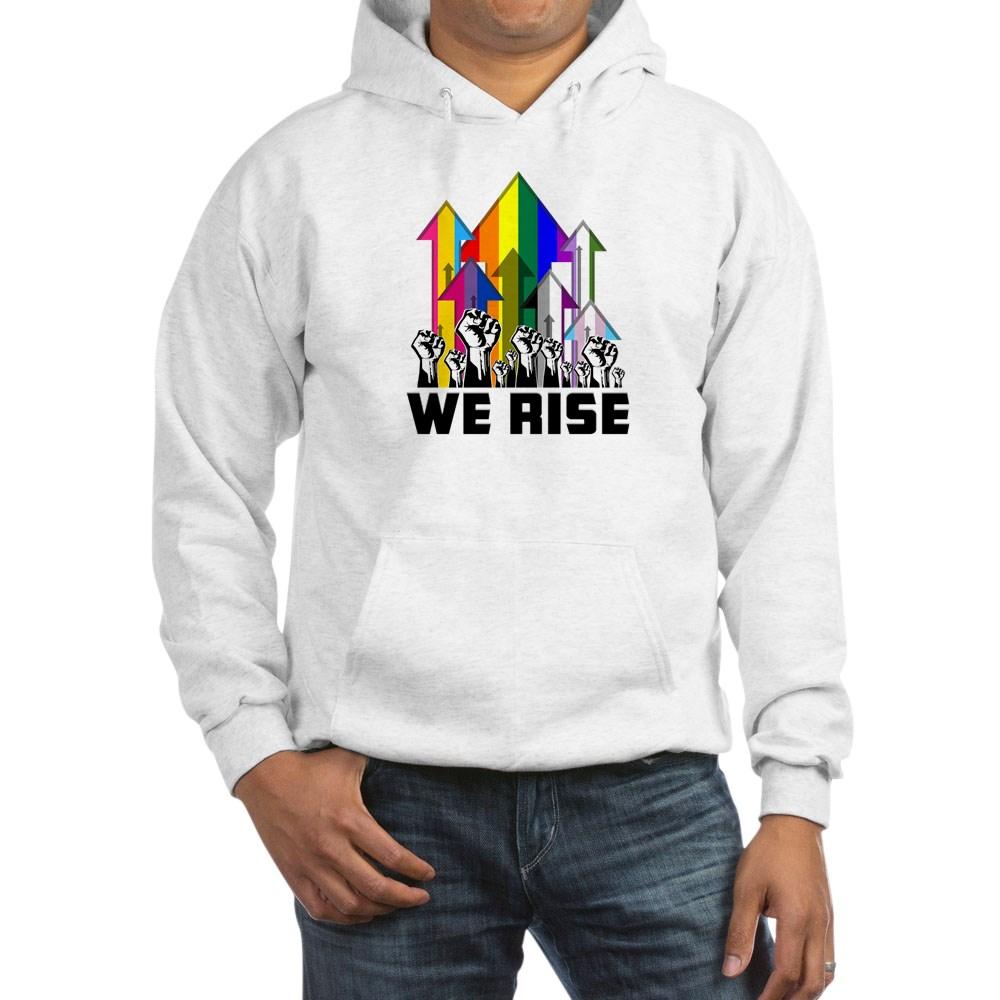 We Rise LGBTQIA Pride Flags Hooded Sweatshirt