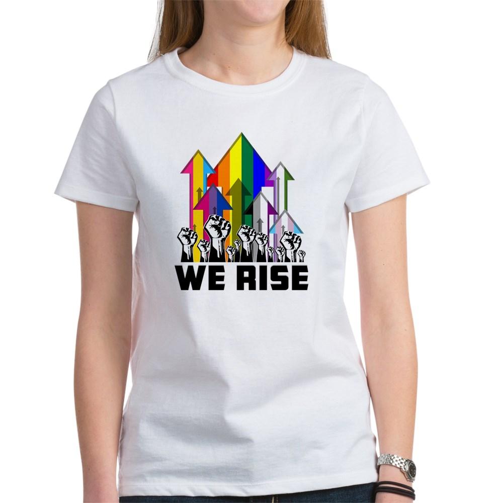 We Rise LGBTQIA Pride Flags Women's T-Shirt