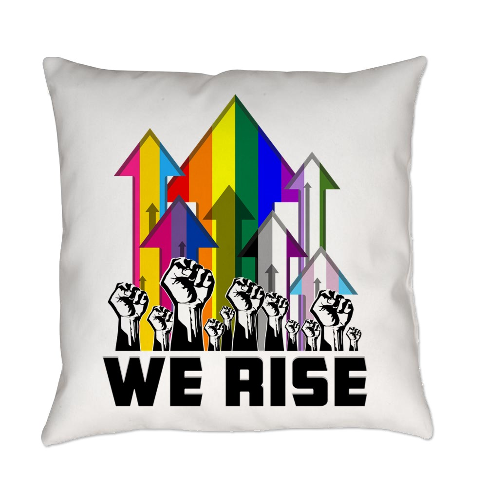 We Rise LGBTQIA Pride Flags Everyday Pillow