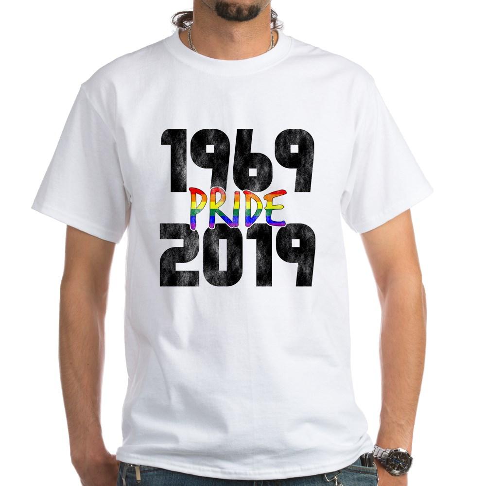 1969-2019 50th Pride Anniversary White T-Shirt