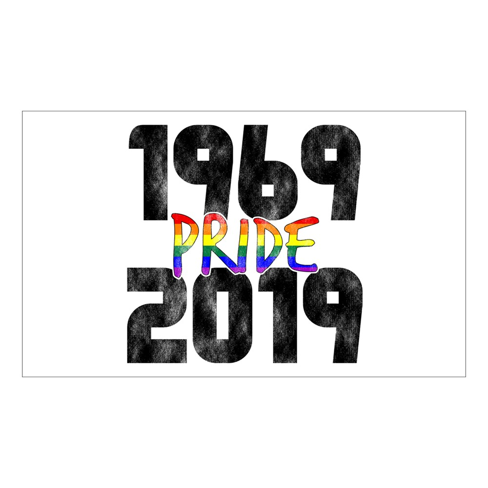 1969-2019 50th Pride Anniversary Rectangle Sticker