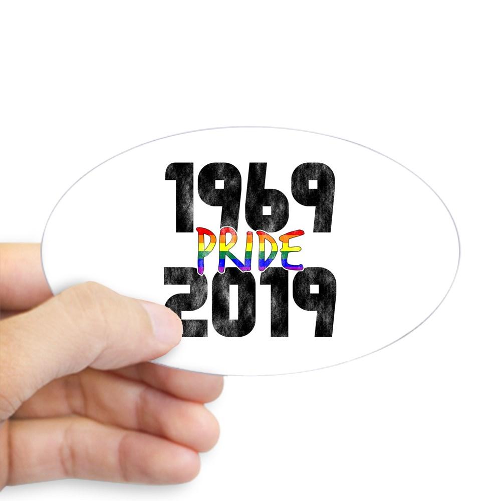 1969-2019 50th Pride Anniversary Oval Sticker