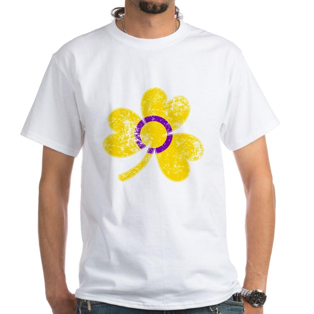 Intersex Shamrock Pride Flag White T-Shirt