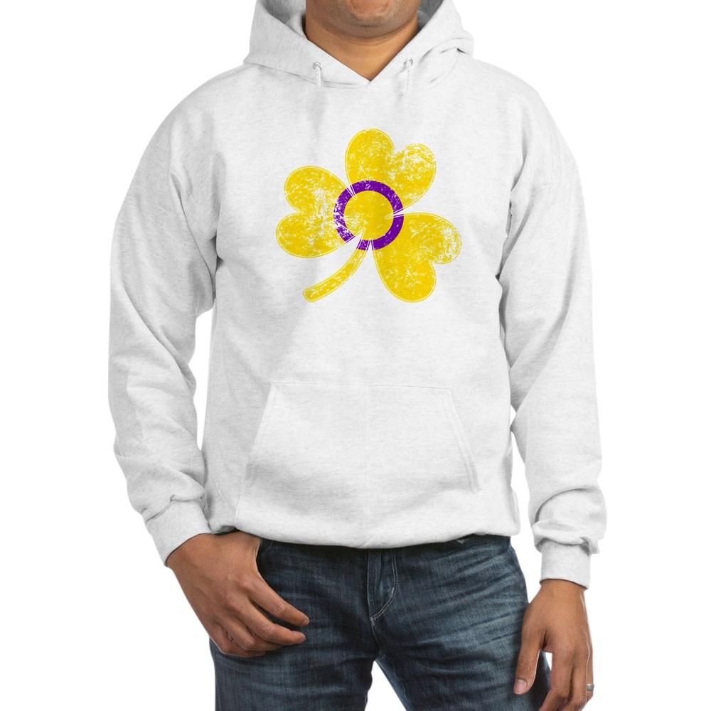 Intersex Shamrock Pride Flag Hooded Sweatshirt