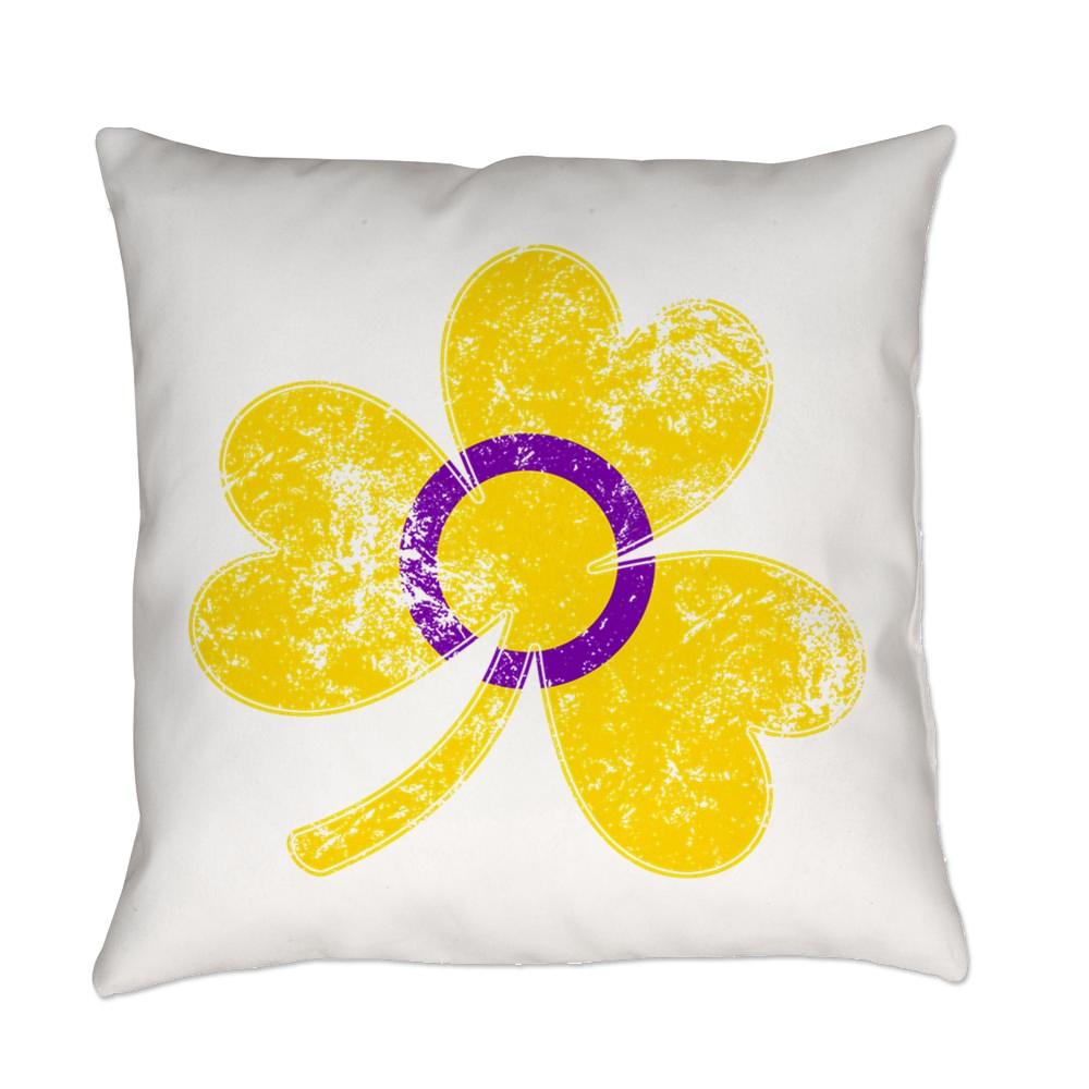 Intersex Shamrock Pride Flag Everyday Pillow