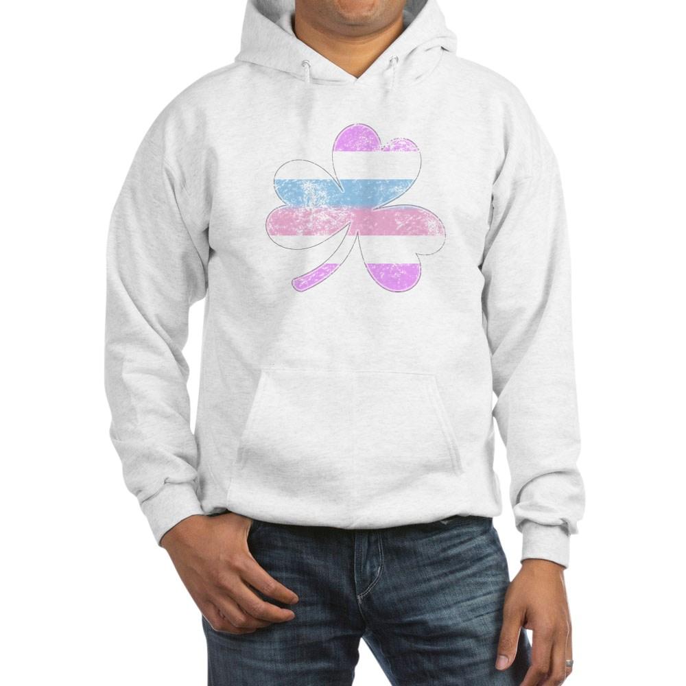Bigender Shamrock Pride Flag Hooded Sweatshirt