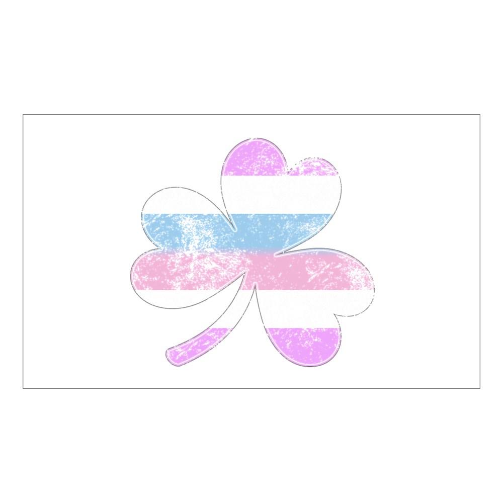 Bigender Shamrock Pride Flag Rectangle Sticker