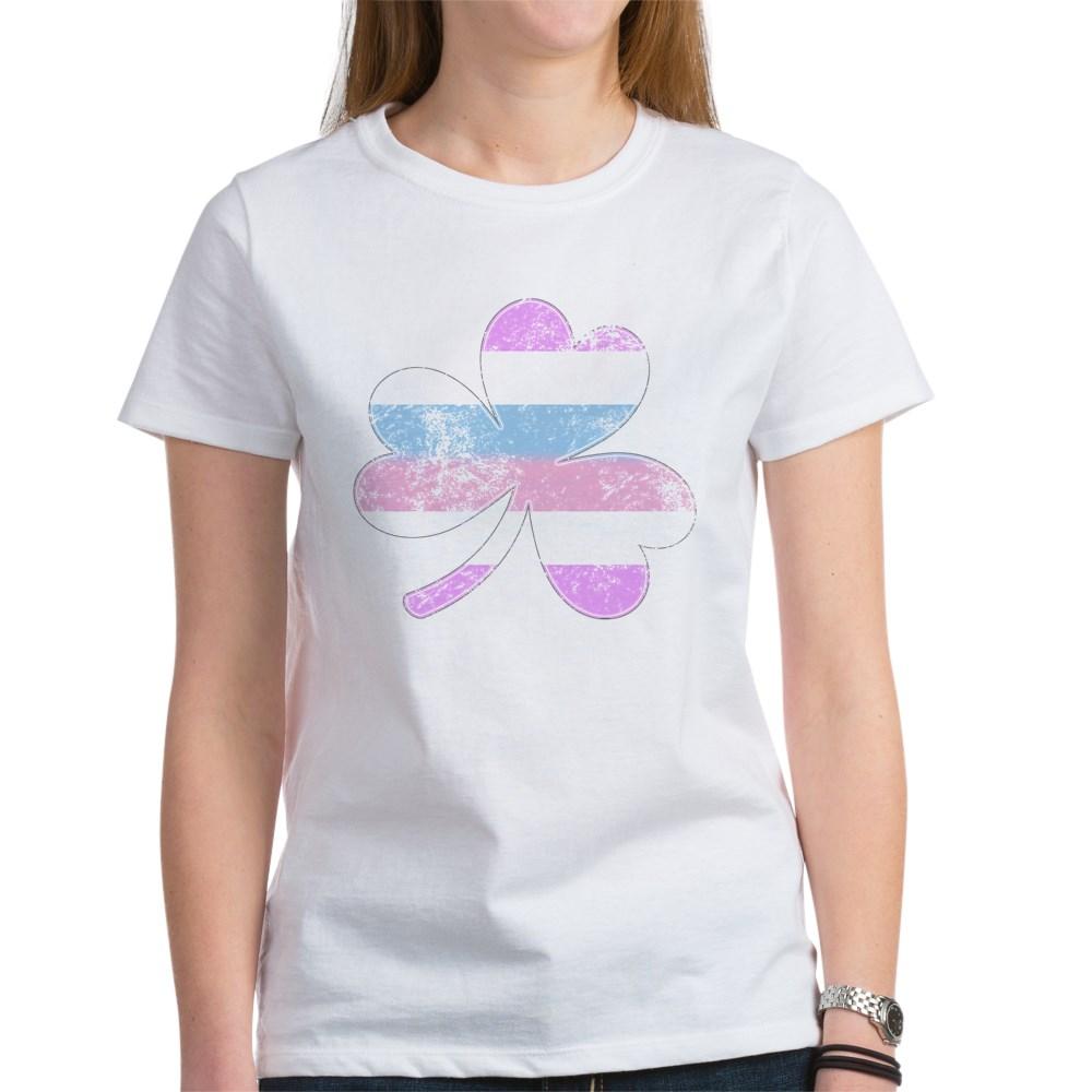 Bigender Shamrock Pride Flag Women's T-Shirt