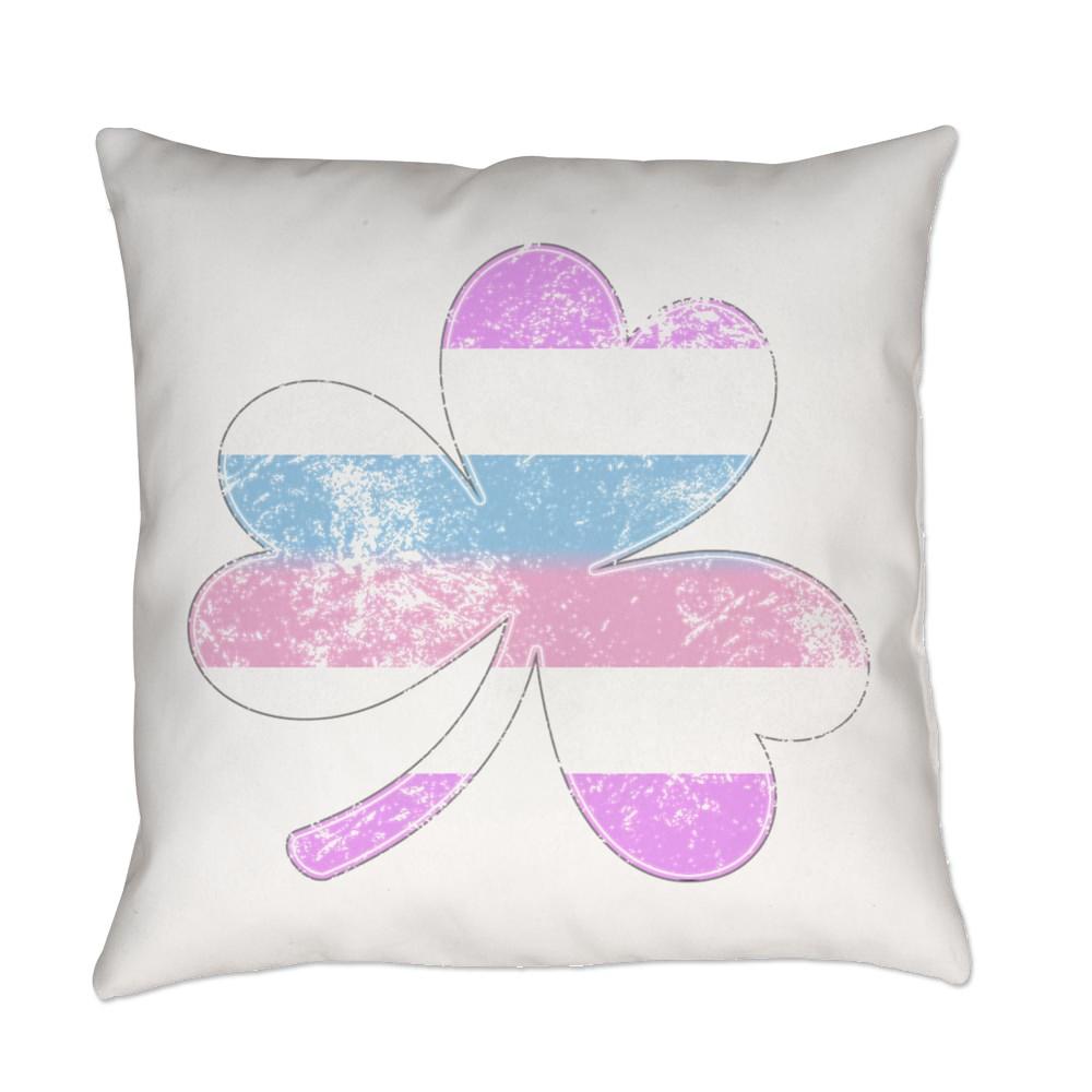 Bigender Shamrock Pride Flag Everyday Pillow