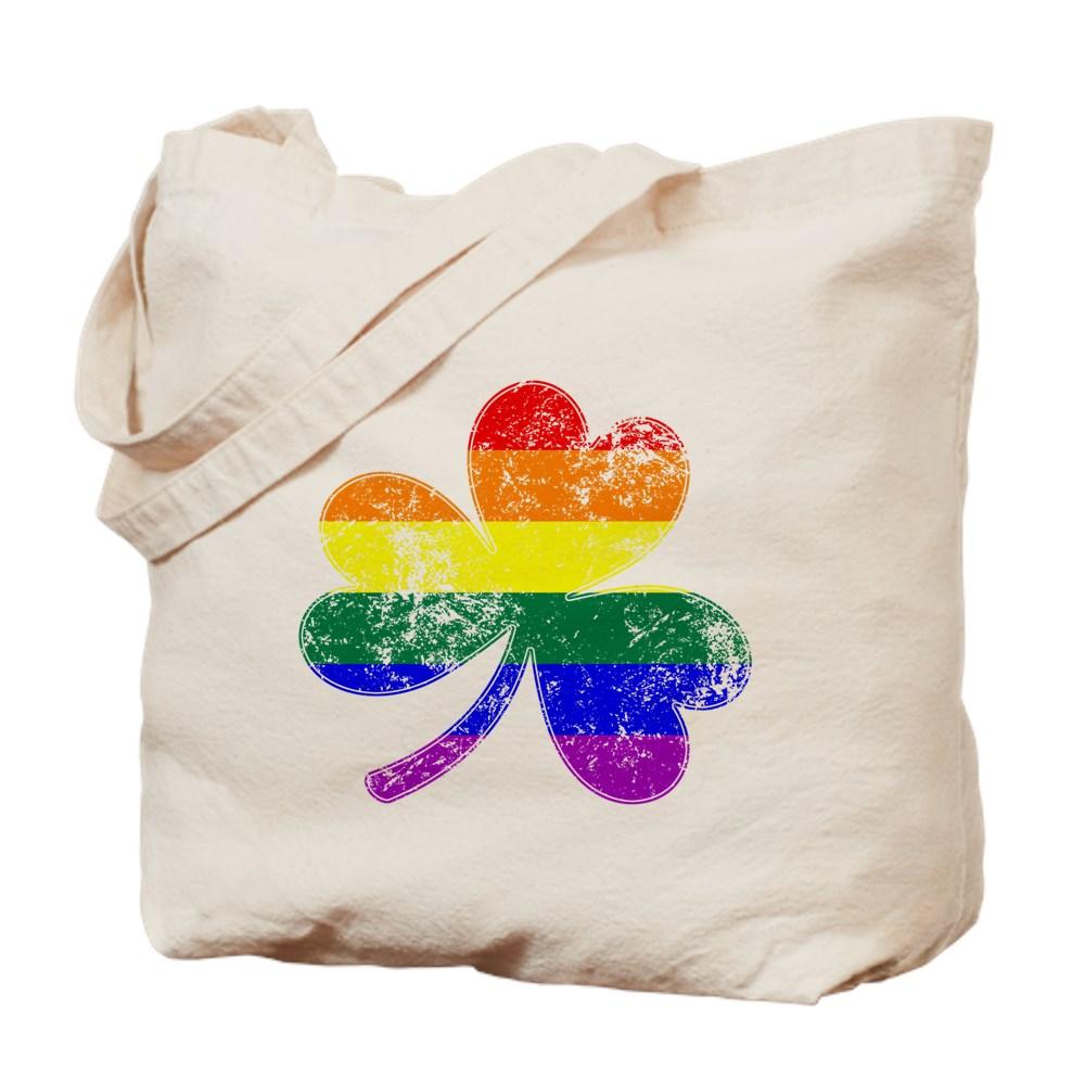 LGBTQ Shamrock Pride Flag Tote Bag