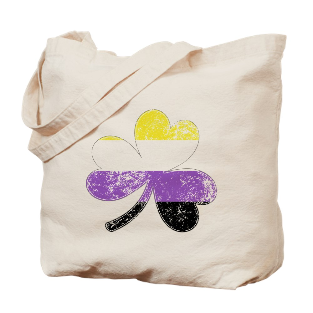 Nonbinary Shamrock Pride Flag Tote Bag