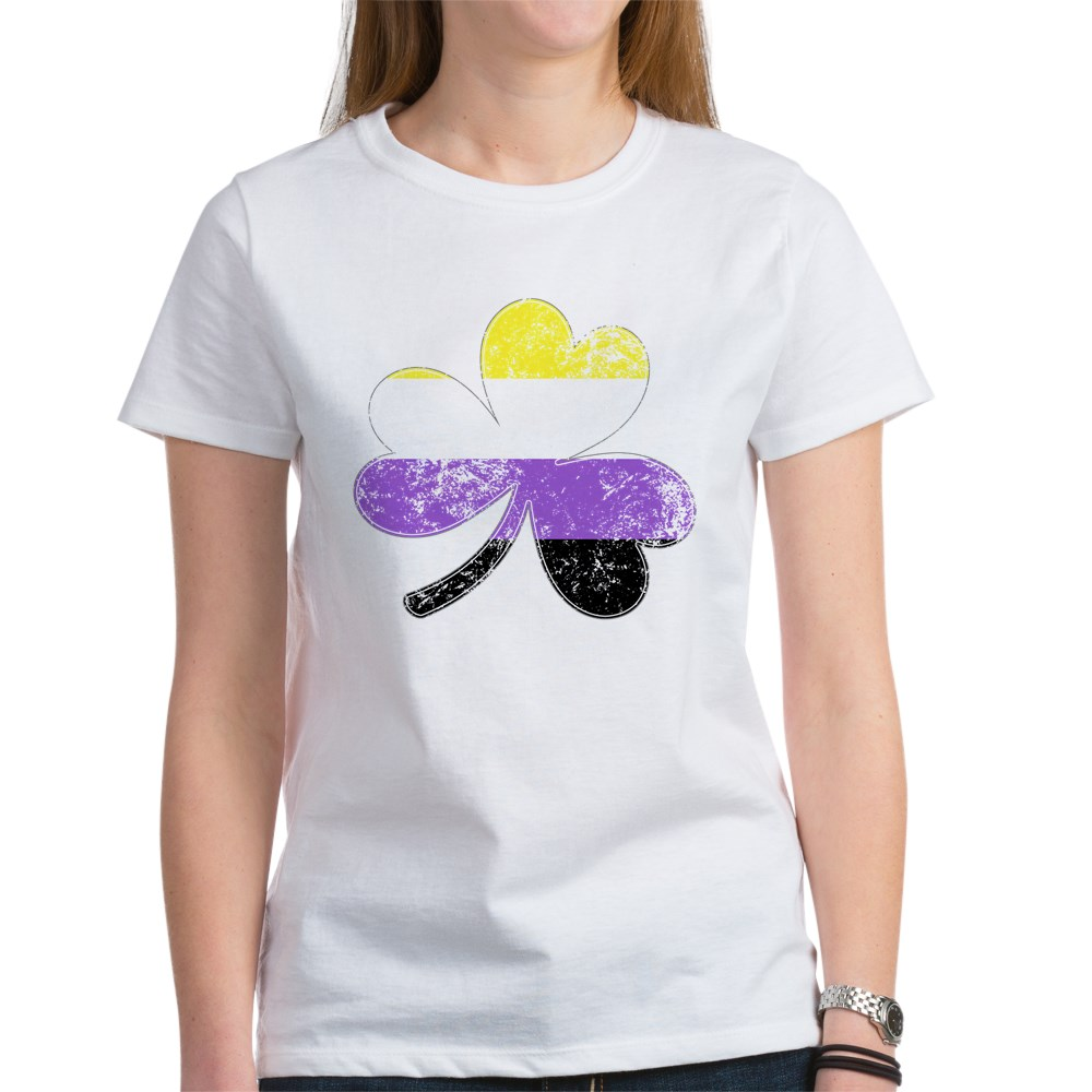 Nonbinary Shamrock Pride Flag Women's T-Shirt