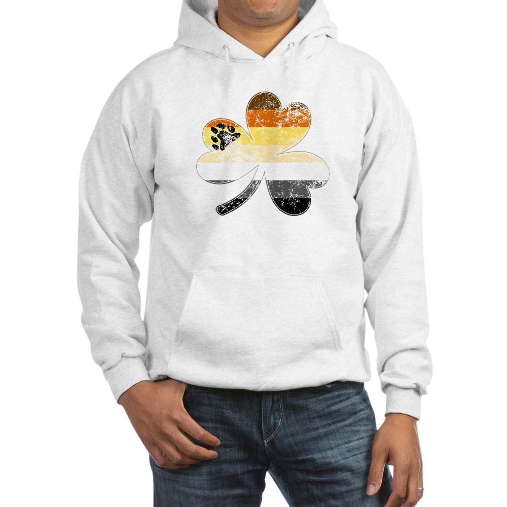 Gay Bear Shamrock Pride Flag Hooded Sweatshirt