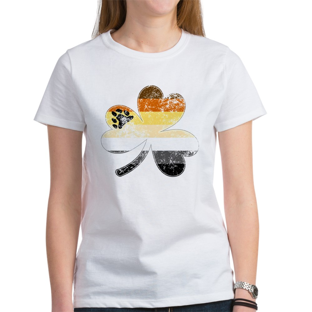 Gay Bear Shamrock Pride Flag Women's T-Shirt