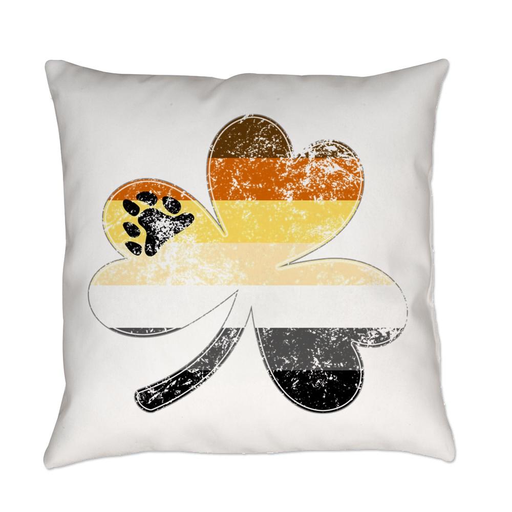 Gay Bear Shamrock Pride Flag Everyday Pillow