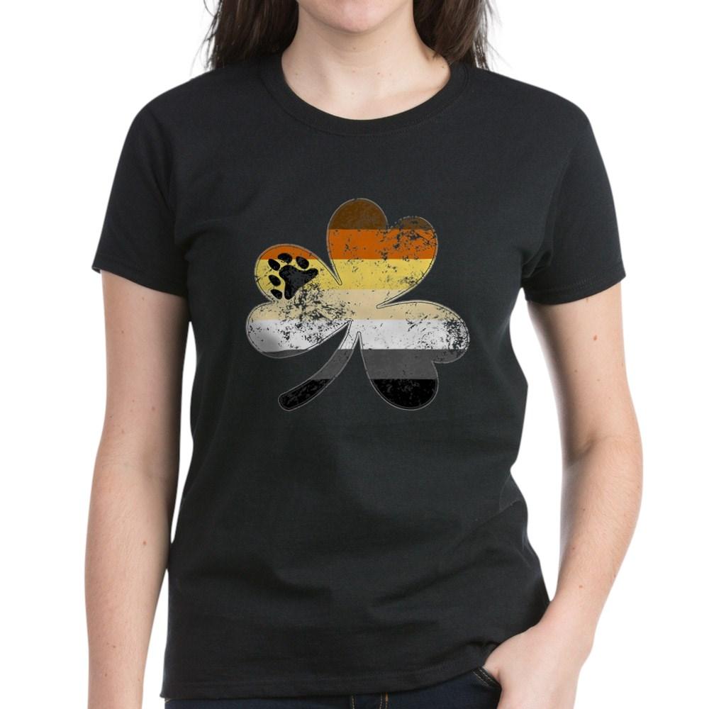 Gay Bear Shamrock Pride Flag Women's Dark T-Shirt