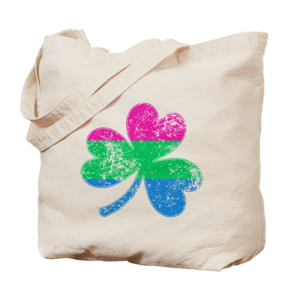 Polysexual Shamrock Pride Flag Tote Bag