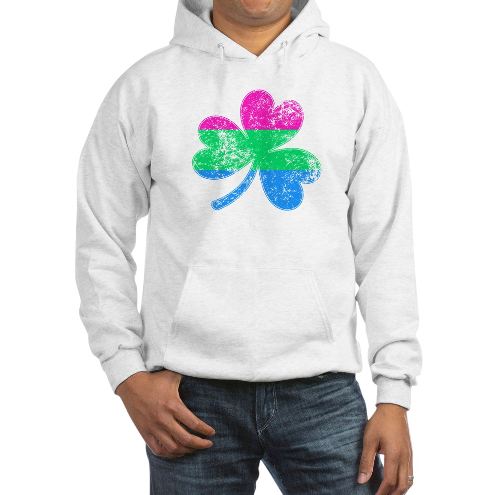 Polysexual Shamrock Pride Flag Hooded Sweatshirt