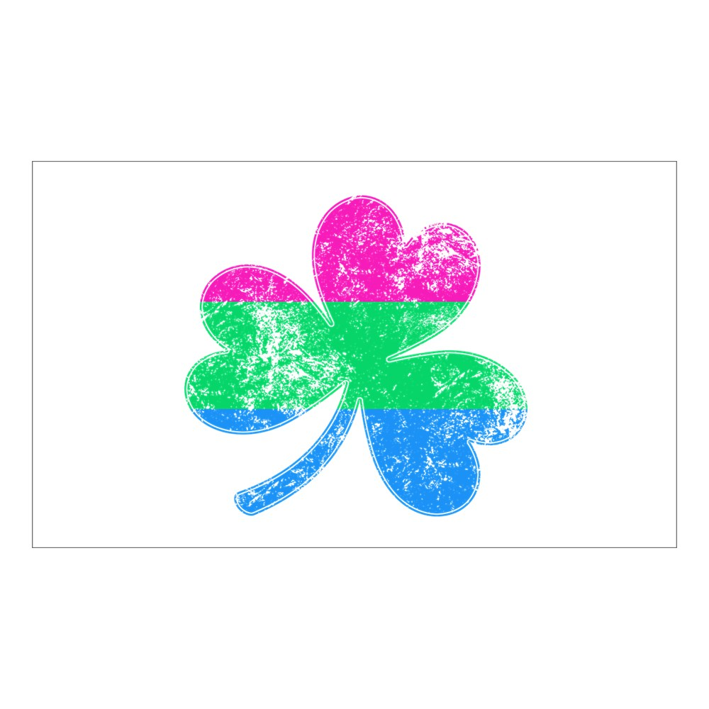 Polysexual Shamrock Pride Flag Rectangle Sticker