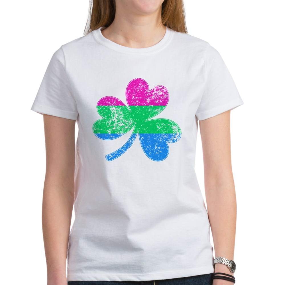 Polysexual Shamrock Pride Flag Women's T-Shirt