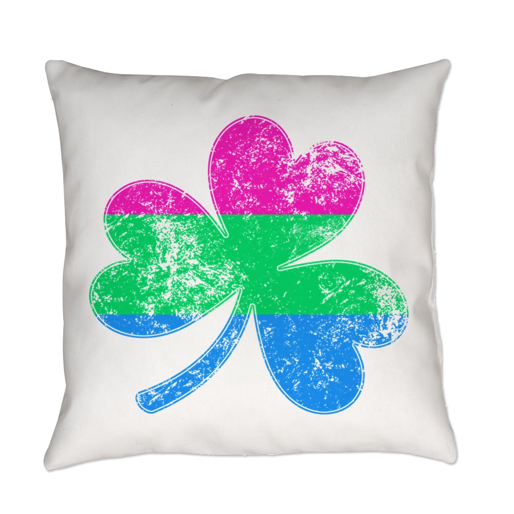 Polysexual Shamrock Pride Flag Everyday Pillow
