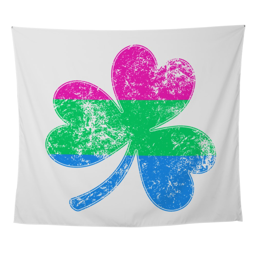 Polysexual Shamrock Pride Flag Wall Tapestry