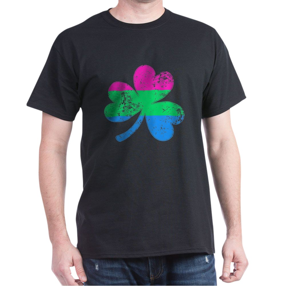 Polysexual Shamrock Pride Flag Dark T-Shirt