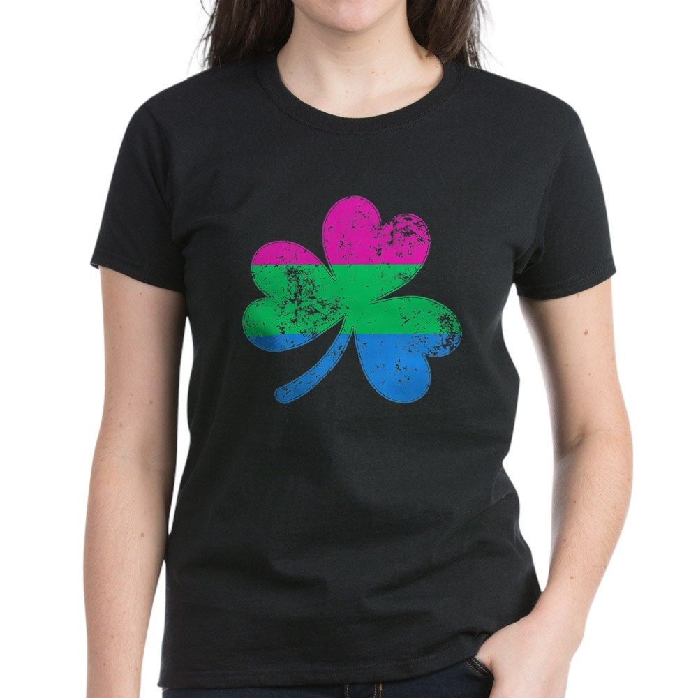 Polysexual Shamrock Pride Flag Women's Dark T-Shirt