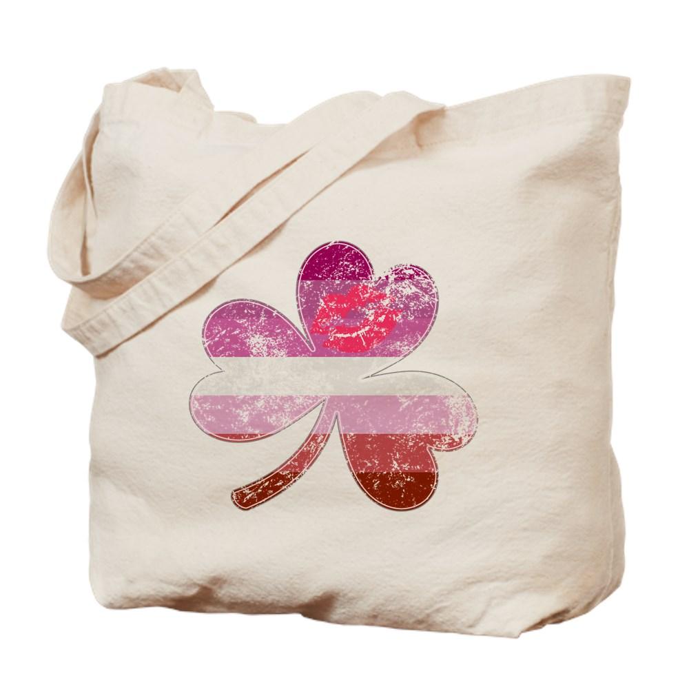 Lipstick Lesbian Shamrock Pride Flag Tote Bag