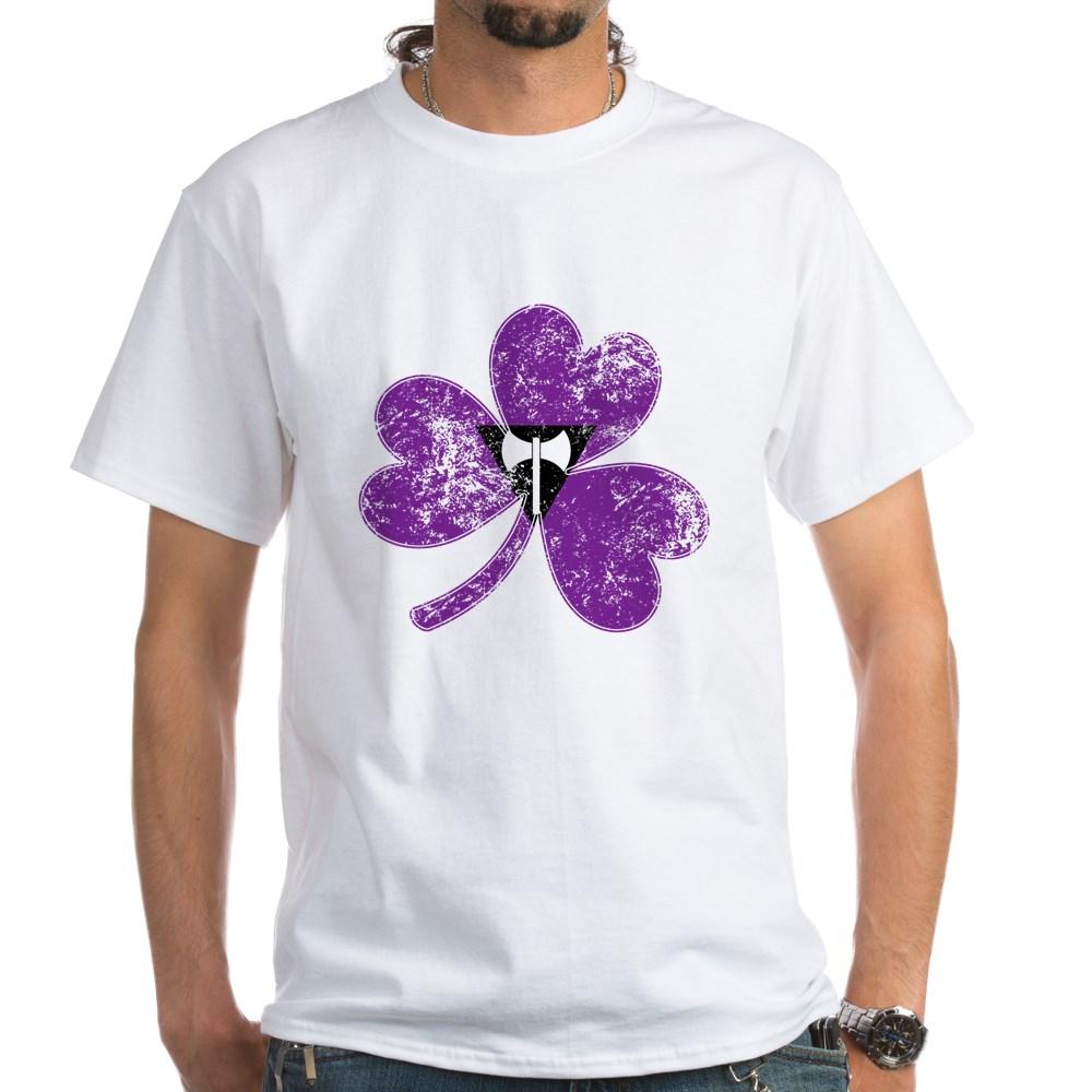Lesbian Labrys Shamrock Pride Flag White T-Shirt
