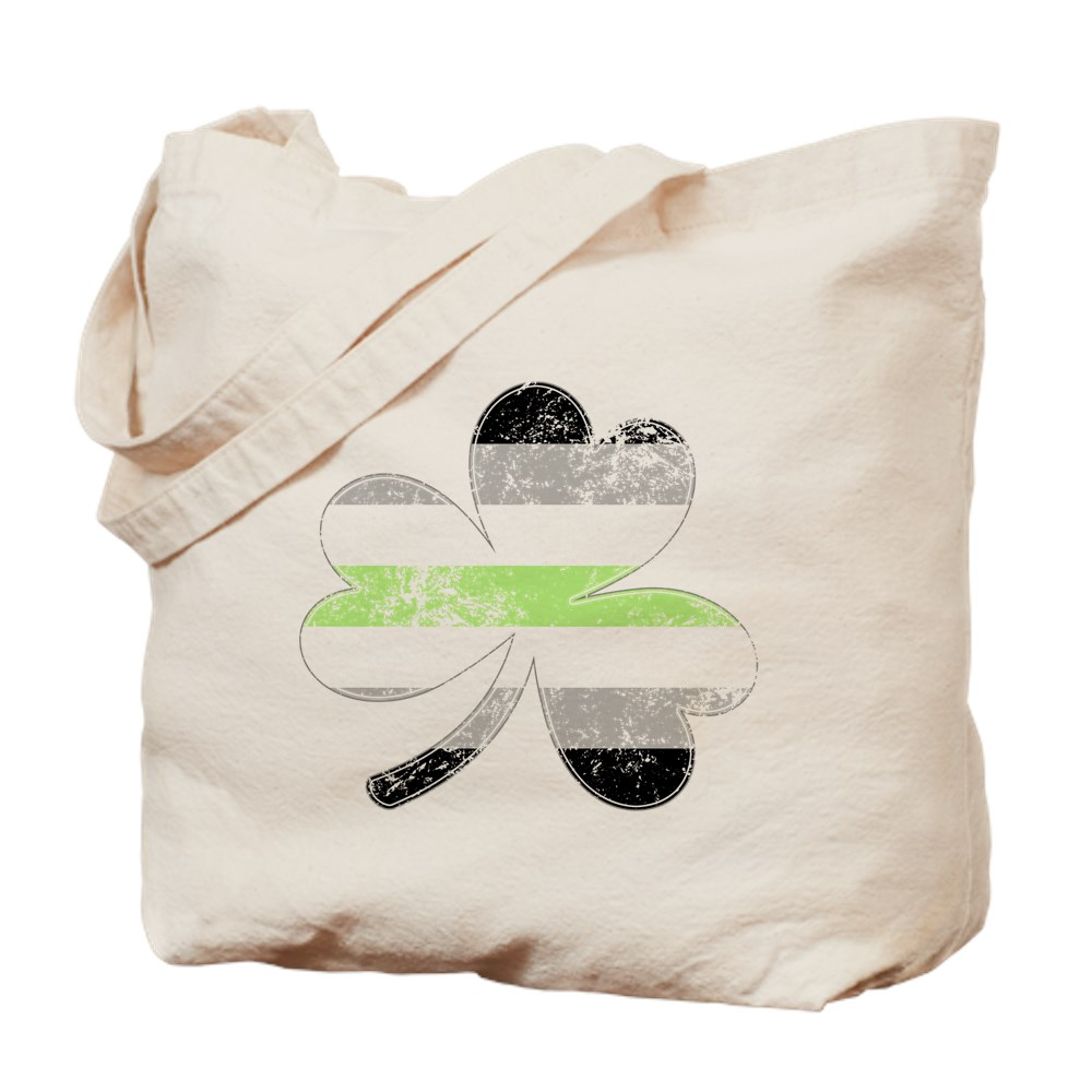 Agender Shamrock Pride Flag Tote Bag