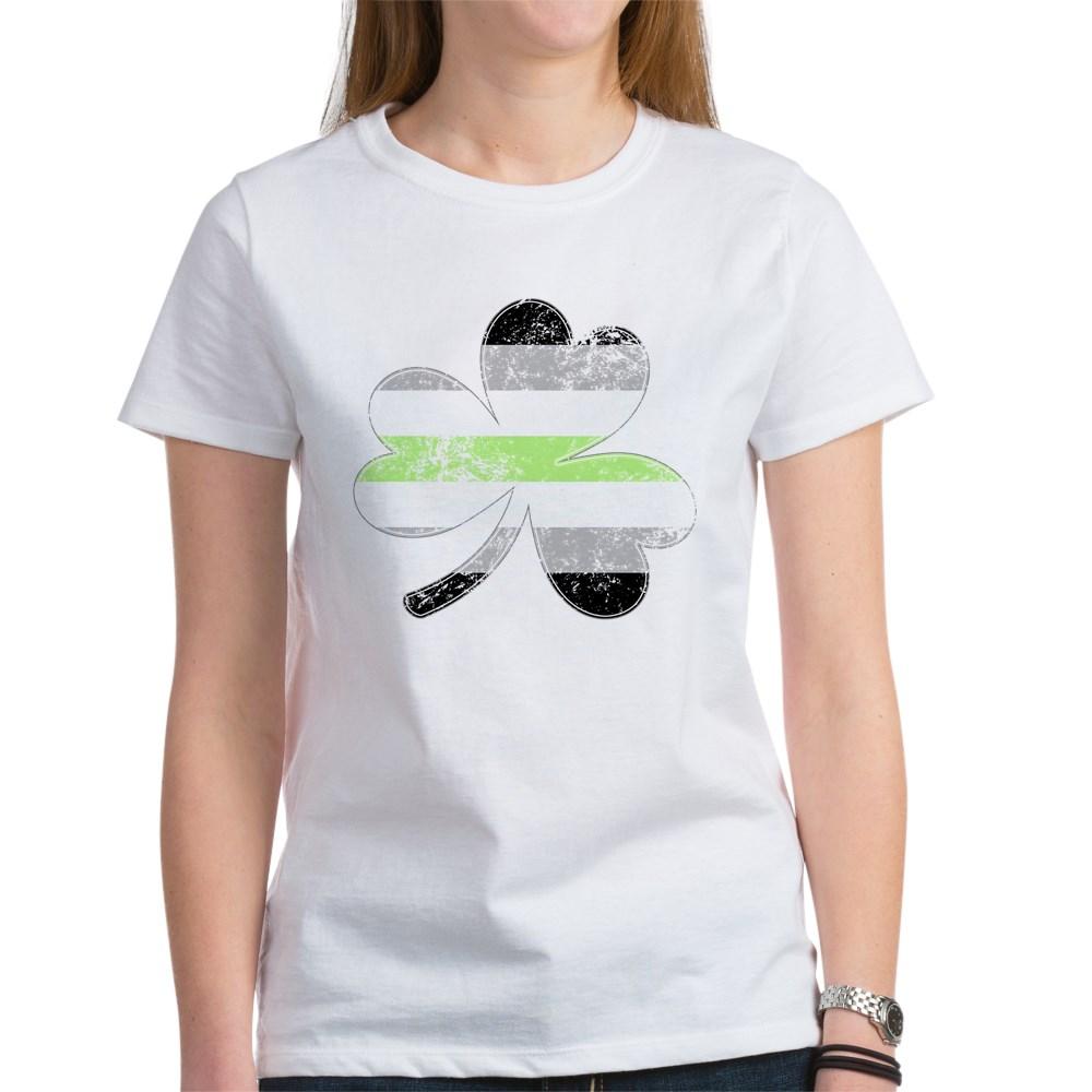 Agender Shamrock Pride Flag Women's T-Shirt
