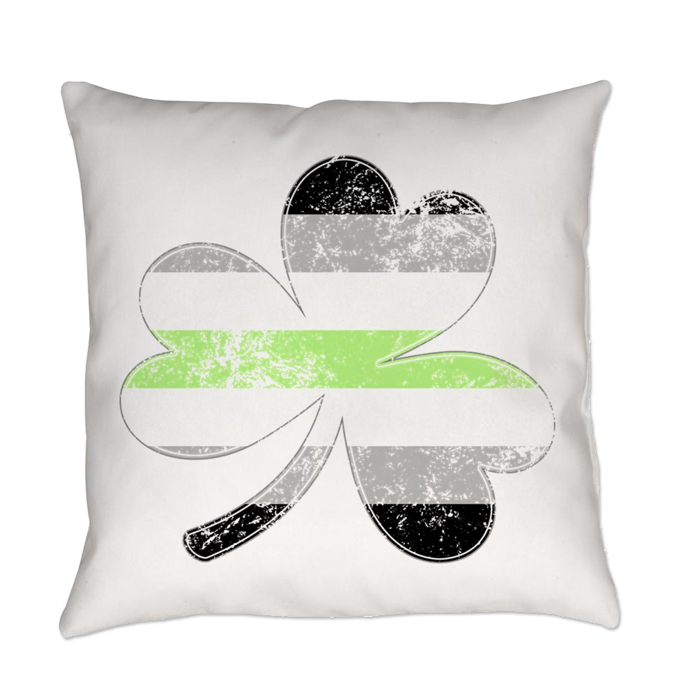 Agender Shamrock Pride Flag Everyday Pillow
