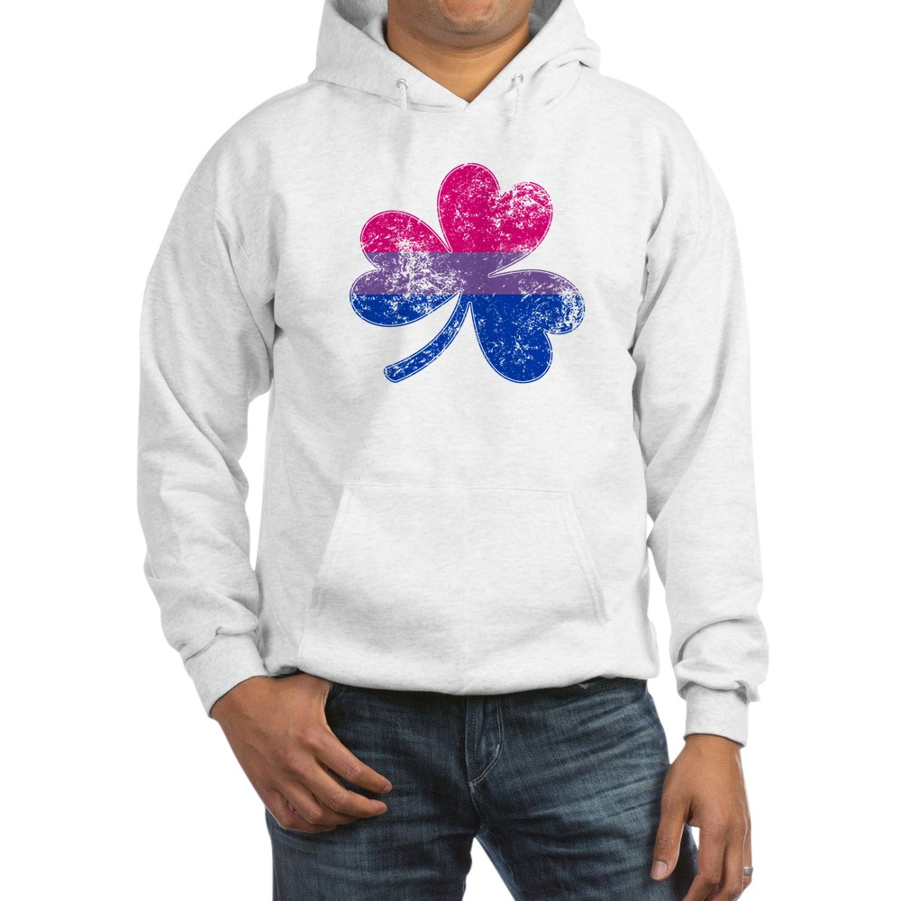 Bisexual Shamrock Pride Flag Hooded Sweatshirt