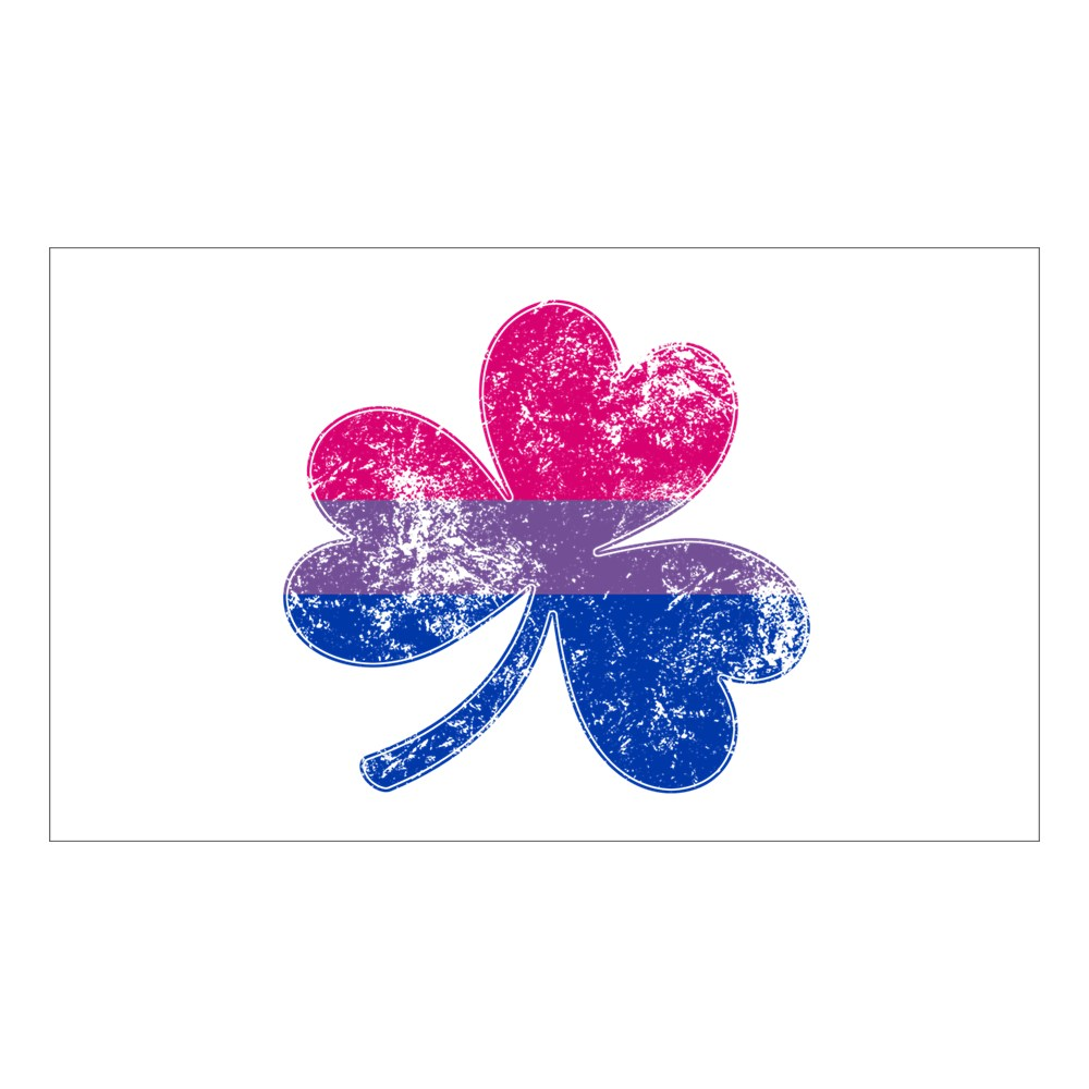Bisexual Shamrock Pride Flag Rectangle Sticker