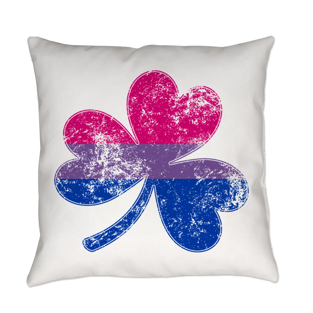Bisexual Shamrock Pride Flag Everyday Pillow