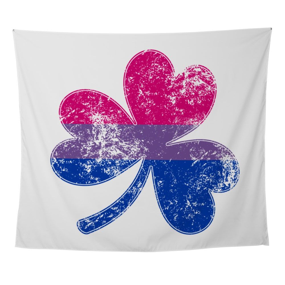 Bisexual Shamrock Pride Flag Wall Tapestry