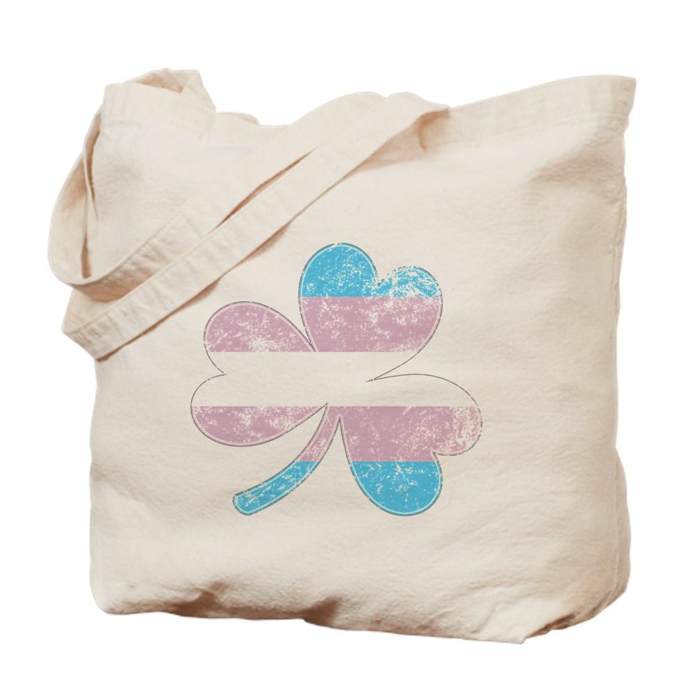Transgender Shamrock Pride Flag Tote Bag