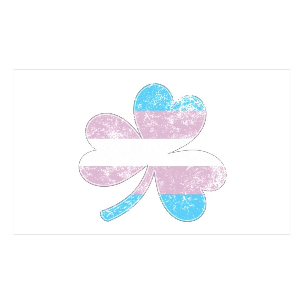 Transgender Shamrock Pride Flag Rectangle Sticker